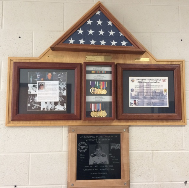 The wonderful plaque and awards at Portville Central School